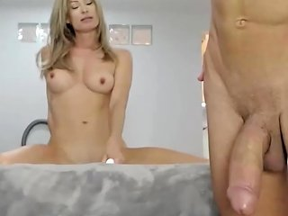 Hot Sexy Big Tits Milf Deep Throat Big Cock Blowjob
